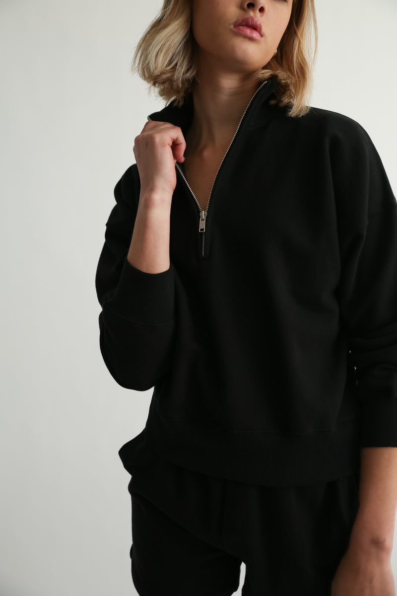 The 1/2 Zip Sweatshirt - Almina Concept