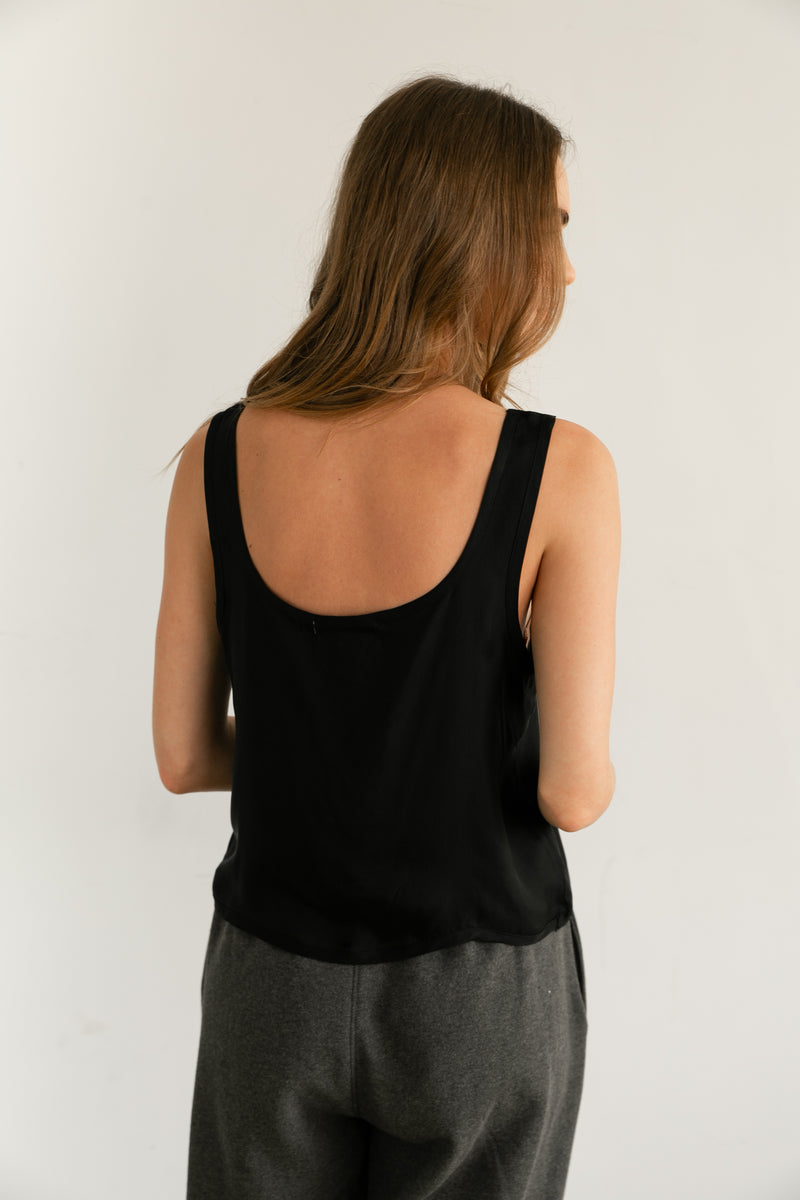 Cupro Cropped Tank - Almina Concept