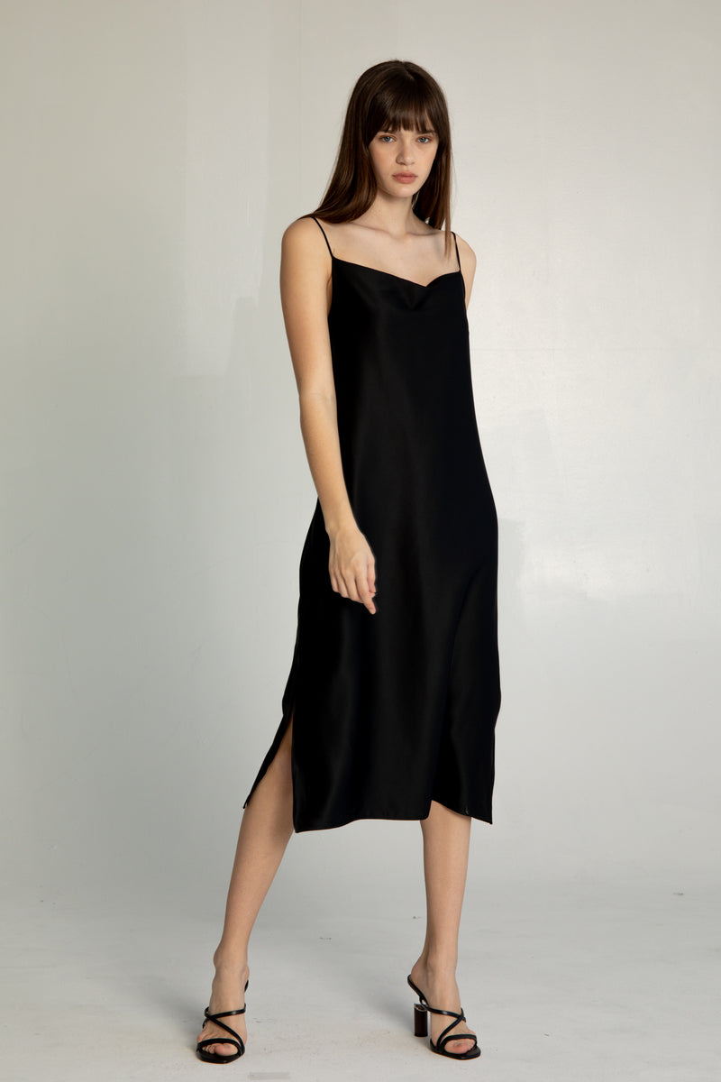 Draped Slip Dress