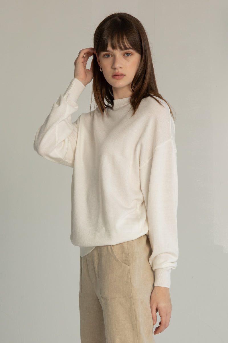 Relaxed Dropped Shoulder Sweater - Almina Concept