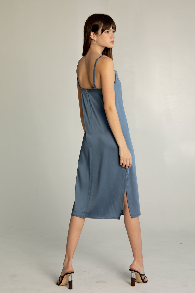 Draped Slip Dress - Almina Concept