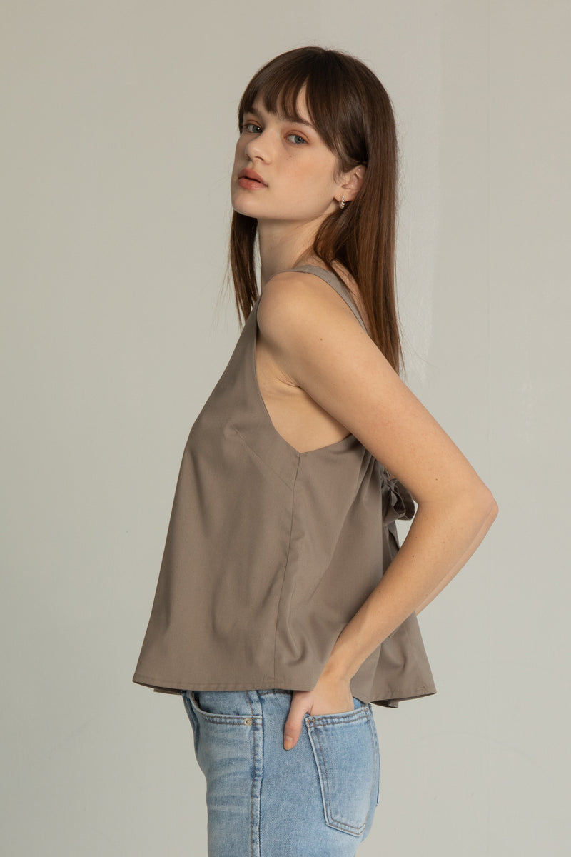 Bow Tie Detail Top - Almina Concept