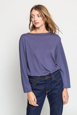 Relaxed Boatneck Long Sleeve Top