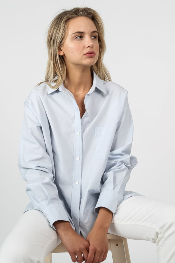 Oversized Slit Poplin Shirt