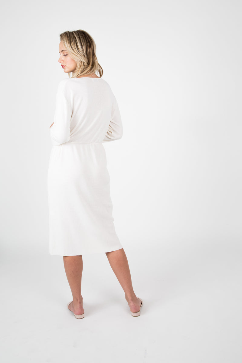 Knit V Neck Dress - Almina Concept