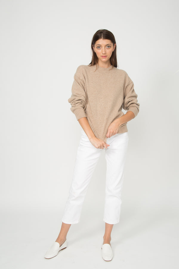 Wool/Cashmere Mock Neck Pullover Sweater