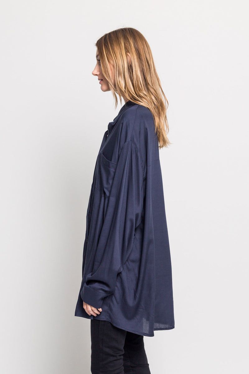 Oversized Draped Shirt - Almina Concept
