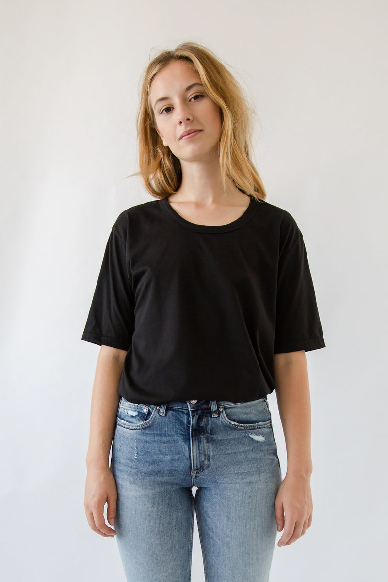 Relaxed Cotton Tee - Almina Concept
