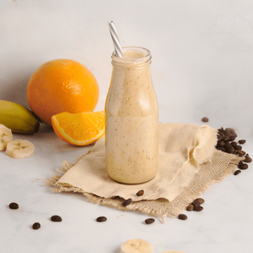 Banana, Orange, and Coffee Smoothie | High Protein, GF, Vegan, No added Sugar,