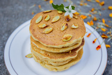 Super Fluffy Pumpkin Pancakes | High Protein, GF, Vegan
