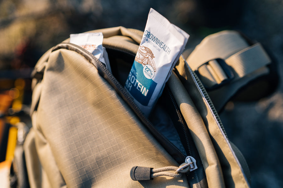 on the go snacks always in your pocket or backpack. vegan organic protein and energy bars for your healthy snacking