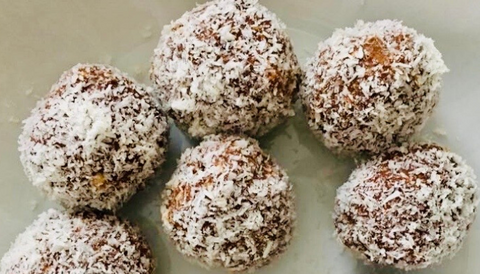 Banana oats balls with Restore Powder by Crownhealth