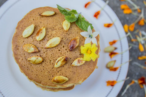 vegan pumpkin pancakes recipe