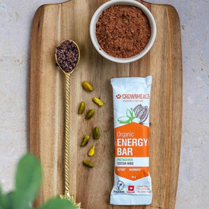 Healthy energy snacks for your productive morning. Vegan organic energy and protein bars are a perfect everytime snack when walking, trekking, hiking, studying and working.
