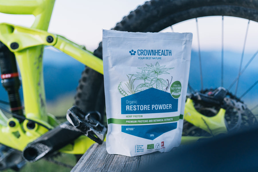 Restore Powder Hemp is rich of anti-oxidant and perfect complete recovery shake after every bike workout.