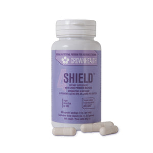 shield vegan probiotic bottle with no background