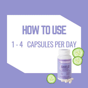 how to use shield crownhealth: 1 to 4 capsules per day