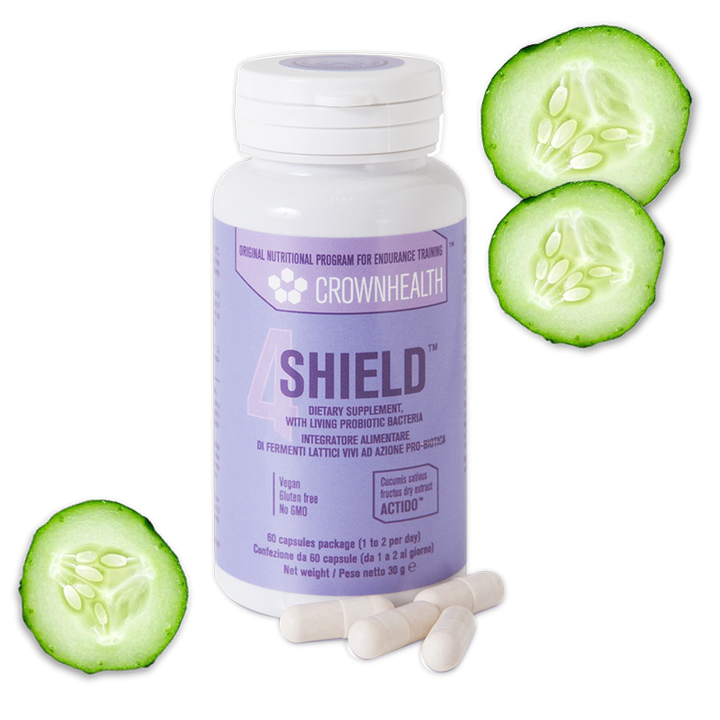 Plant-based supplements and probiotics for the immune system balance with cucumber extracts