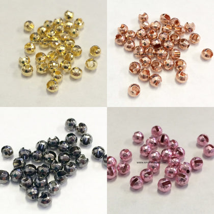 Tungsten Slotted Disco Beads Per 100
