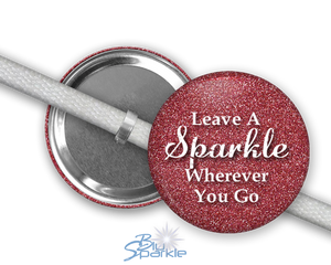 """Leave A Sparkle Wherever You Go"" Shoelace Charms"