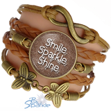 """Smile Sparkle Shine"" Bracelets"