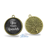 """You Simply Sparkle"" Round Pendants"