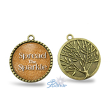 "Gold Tree ""Spread The Sparkle"" Round Pendants"