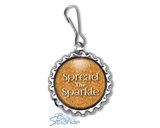"""Spread The Sparkle"" Zipperpulls"