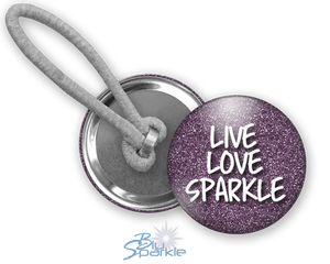 """Live Love Sparkle"" Ponytail Holders"