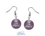 """Live Love Sparkle"" Earrings"