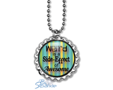"Bottlecap ""Weird is a Side-Effect of Awesome"" Round Pendants"