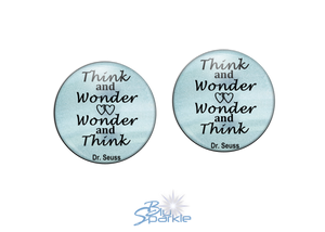 """Think and Wonder, Wonder and Think"" Earrings"