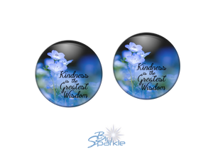 """Kindness Is The Greatest Wisdom"" Earrings"