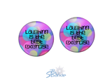 """Laughing Is The Best Exercise"" Earrings"