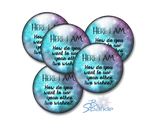 """Here I Am. How Do You Want To Use Your Other Two Wishes?"" Pinback Buttons"