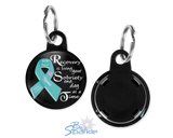 "Personalized ""Recovery is Living Your Sobriety One Day at at Time"" Key Chains"