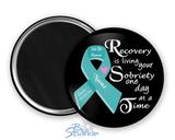 """Recovery is Living Your Sobriety One Day at at Time"" Magnets"