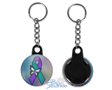 """Suicide Awareness Butterfly Ribbon"" Key Chains"