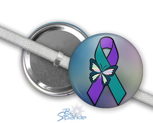 """Suicide Awareness Butterfly Ribbon"" Shoelace Charms"