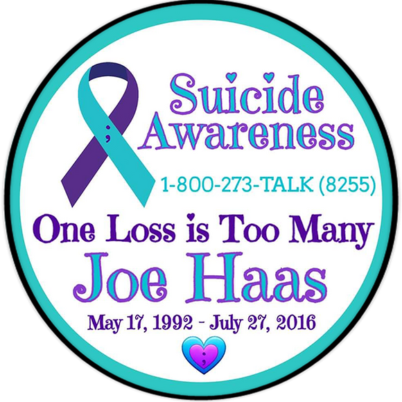 Personalized 'Suicide Awareness One Loss is Too Many' 4.5