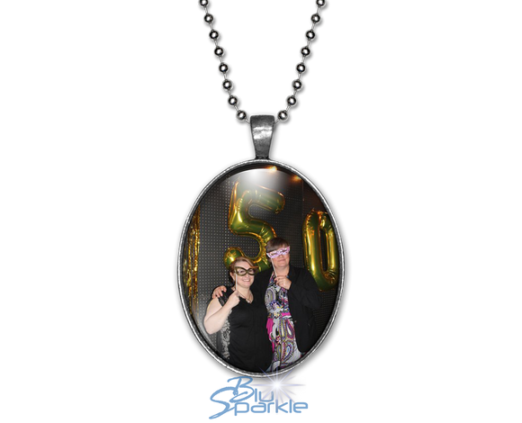Personalized Photo Oval Pendants