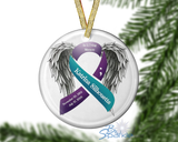 Personalized Awareness Ribbon Ornaments