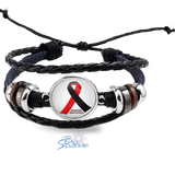 Personalized Awareness Ribbon Bracelets