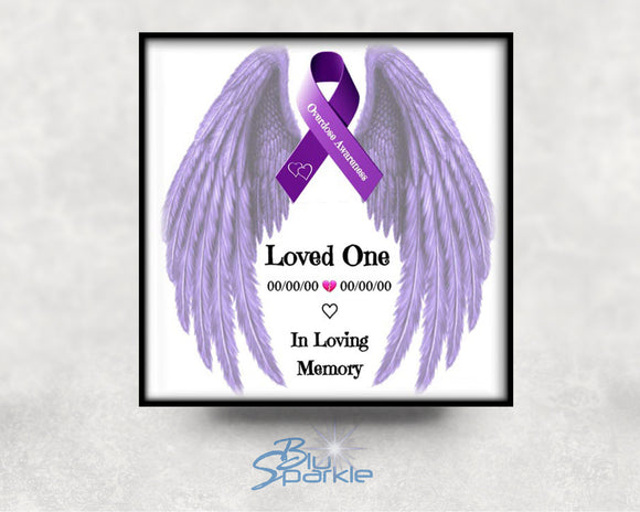 Personalized Overdose Awareness Ribbon 6