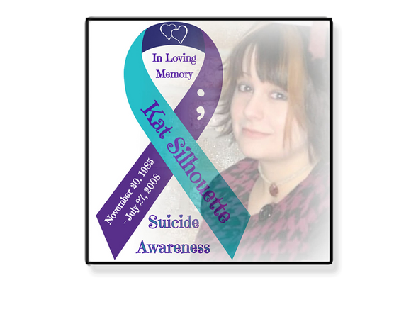Personalized Photo & Suicide Awareness Ribbon 6