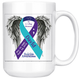 Personalized Awareness Ribbon with Wings 15oz mug