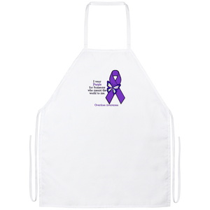 I Wear Purple For Someone Who Meant The World To Me - Overdose Awareness Apron