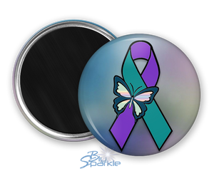 """Suicide Awareness Butterfly Ribbon"" Magnets"