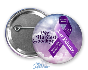 Personalized Awareness Ribbon & Quote Pinback Button