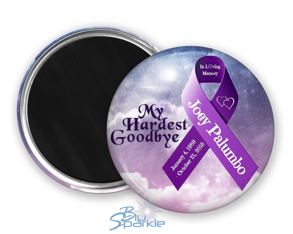 Personalized Awareness Ribbon & Quote Magnets